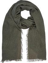River Island Womens Khaki green gauze laddered scarf