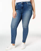 INC International Concepts I.N.C. Plus Size Embellished Skinny Jeans, Created for Macy's