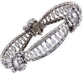 Platinum and 18.50ct Diamond Link Bracelet
