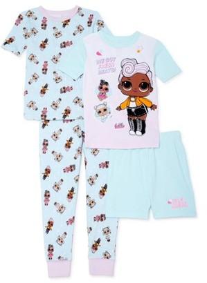 L.O.L. Surprise! Girls 4-10 Cotton 4-Piece Mix & Match Pajama Set