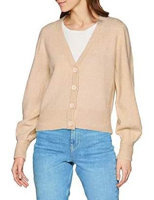 Vero Moda Women's Vmdalo Ls V-neck Cardigan E Plain Loose Fit Long Sleeve Cardigan,(Manufacturer Size: L)