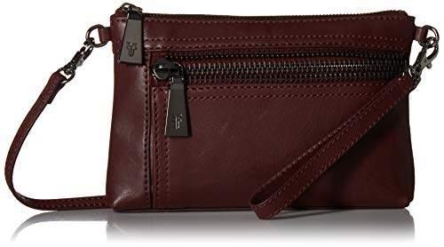 Frye Lena Zip Leather Crossbody Wristlet Bag