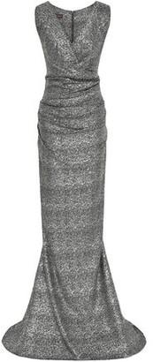 Talbot Runhof Metallic Ruched Stretch-jersey Gown