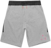 Nike - Nikelab Acg Shell-trimmed Stretch-cotton Jersey Drawstring Shorts