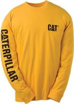 Caterpillar Men's Big and Tall Trademark Banner Long Sleeve Tee