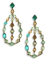 Ivy Demontoid Garnet & Green Tourmaline Teardrop Earrings