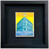 One Kings Lane Vintage Framed La Tremoille Luggage Label
