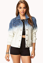 Forever 21 Spiked Ombré Denim Jacket