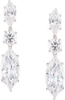 FANTASIA Marquise CZ Drop Earrings, White