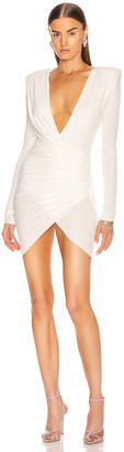 Alexandre Vauthier Jersey Mini Dress in Off White | FWRD