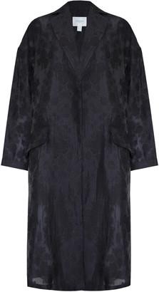 Jovonna London Black Swing2 Floral Embroidered Kimono Jacket - M/L - Black