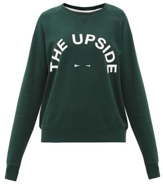 The Upside Bondi Logo-print Cotton-jersey Sweatshirt - Green