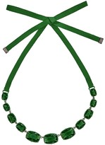 Swarovski Jewel-y Large Necklace - Dark Moss Green