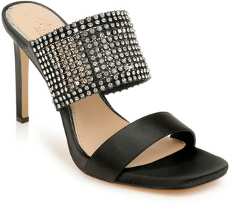 Badgley Mischka Ferris Crystal Band Slide Sandal