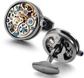 Dich Creat Men's Hollow out Cage Wind-up Skeleton New Watch Movement Cufflinks