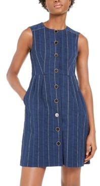 Nanette Lepore Striped Denim Sheath Dress