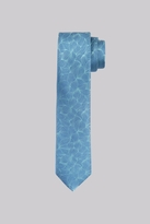 Moss Bros Premium Blue Petals Silk Skinny Tie