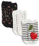 Kate Spade Women's 3-Pack No-Show Socks