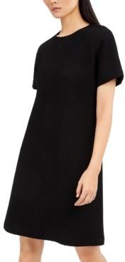 Eileen Fisher Textured Round-Neck Dress