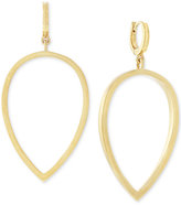 Vince Camuto Gold-Tone Huggy Drop Hoop Earrings