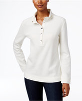 Karen Scott Petite Snap-Front Top, Only at Macy's