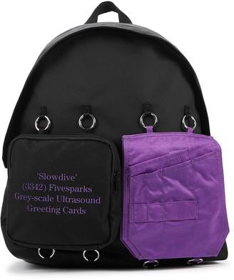 Eastpak X Raf Simons black canvas backpack