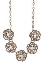 Natasha Accessories 5 Station Flower Necklace