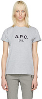 A.P.C. Grey Us Logo T-shirt