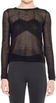 Max Studio Fine Gauge Semi-Sheer Sweater