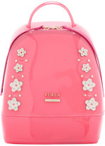Furla floral backpack - women - Leather/Polyester/PVC/metal - One Size