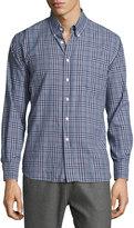 Billy Reid Tuscumbia Plaid Long-Sleeve Sport Shirt, Navy