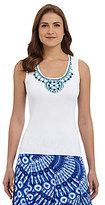 Ruby Rd. Embellished Knit Tank