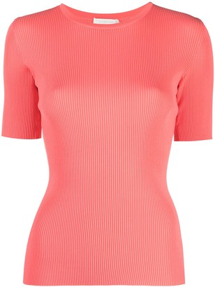 Zimmermann Poppy ribbed knitted top