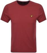 Lyle & Scott Plain Pick Stitch T Shirt Red