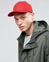 Asos Baseball Cap In Red