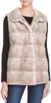 Maximilian Furs Leather Trim Mink Fur Vest