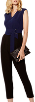 Karen Millen The Essentials Tailored Jumpsuit, Black/Multi