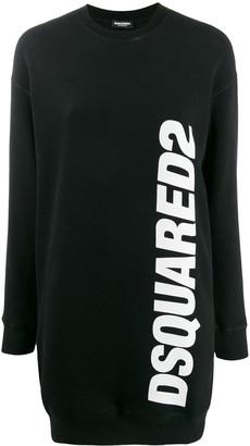 DSQUARED2 Logo Print Sweater Dress