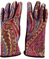 Etro Velvet Paisley Gloves