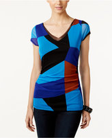 INC International Concepts Petite Colorblocked Top, Only at Macy's