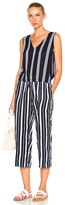 Lemlem Edna Jumpsuit in Blue,Stripe,White.