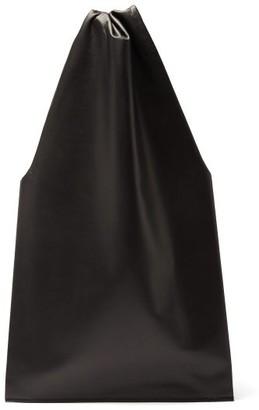 Tsatsas Lato Leather Tote Bag - Black