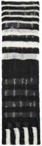 McQ Black & White Striped Mohair Scarf