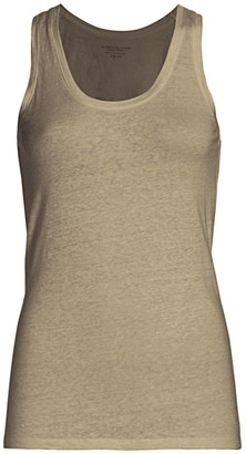 Majestic Filatures Stretch Linen-Knit Tank Top