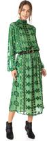Pierre Balmain Burnout Peasant Dress