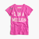 "J.Crew Girls' ""1 in a million"" T-shirt"