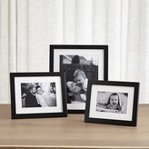 Crate & Barrel Matte Black Picture Frames