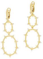 Judith Ripka Sterling/14K Clad_Diamonique Oval Drop Earrings