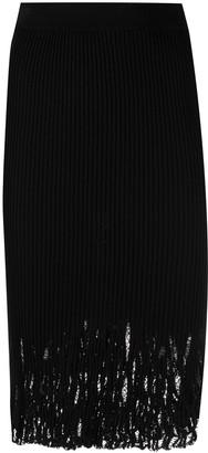 Pinko Ribbed Knit Skirt