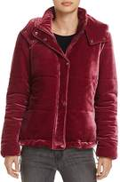 Glamorous Velvet Puffer Bomber Jacket